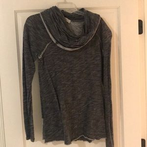 black and grey top